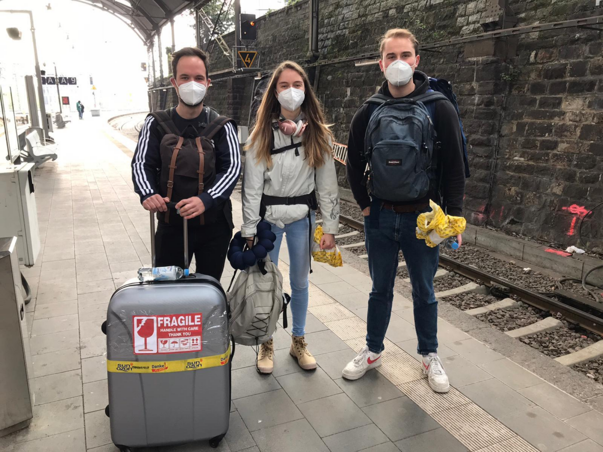 FLTR: Kevin, Maike and Nikolas are starting their journey
